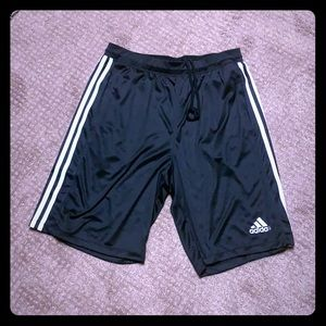Adidas dri fit men's large basketball shorts